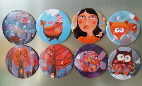 Magnets ronds -  Ø  7cm - 5 €